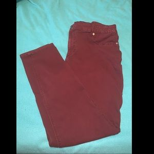 Maroon size 22 Jeggings from Maurices